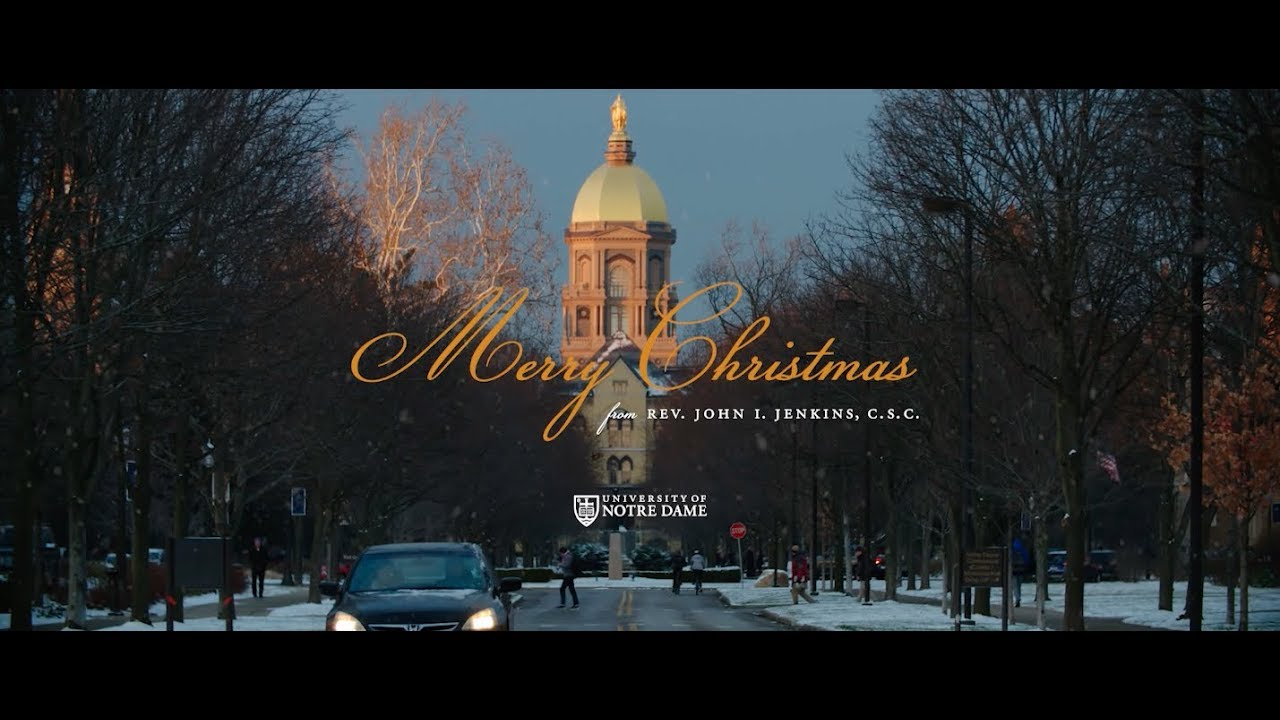 Merry Christmas from Notre Dame 2017 - YouTube
