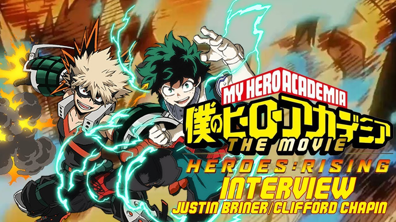 My Hero Academia Heroes Rising Interview With Justin Briner Deku And Clifford Chapin Bakugo Youtube