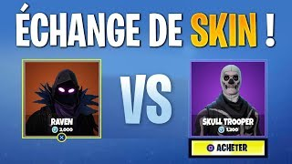 CHANGE OF SKINS WITH AMIS ON FORTNITE Battle Royale!