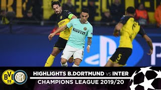 BORUSSIA DORTMUND 3-2 INTER | HIGHLIGHTS | Matchday 04 - UEFA Champions League 2019/20