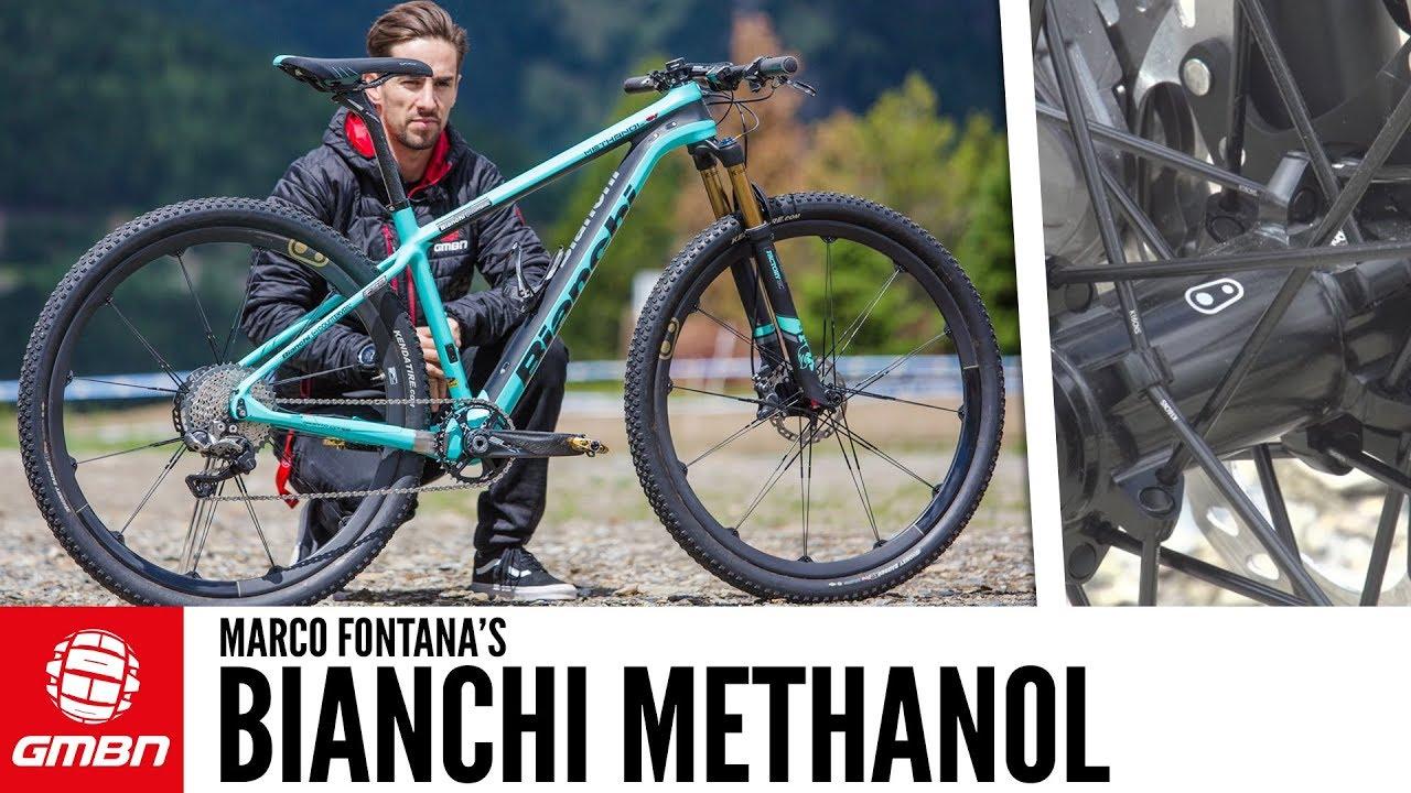 Marco Fontana\'s Bianchi Methanol XC Bike | GMBN Pro Bikes - YouTube