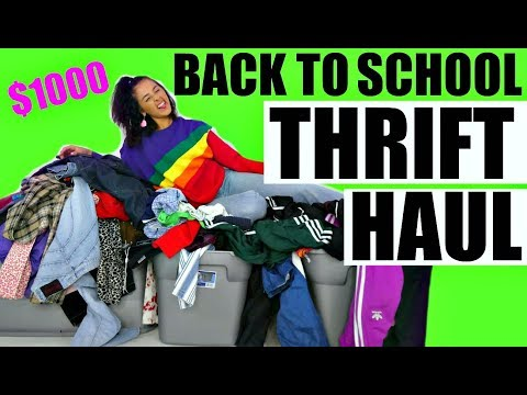 MASSIVE $1000 BACK TO SCHOOL THRIFT HAUL BABY!
