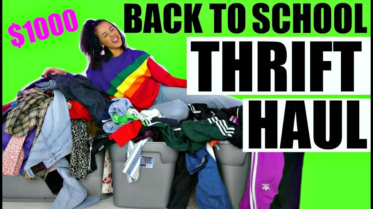 [VIDEO] - MASSIVE $1000 BACK TO SCHOOL THRIFT HAUL BABY! 7