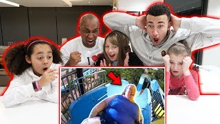 REACTING TO FUNNY FAILS! WITH MY FAMILY - Famtastic