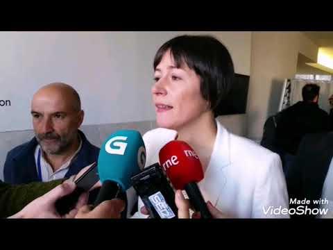 Ana Pontón vota en Santiago