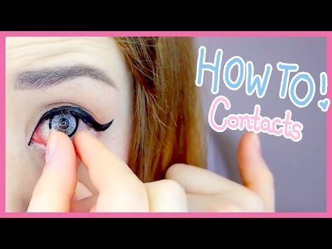 7ebaefaf1ad The Easiest Way to Put in Contact Lenses (My Weird Method) - YouTube