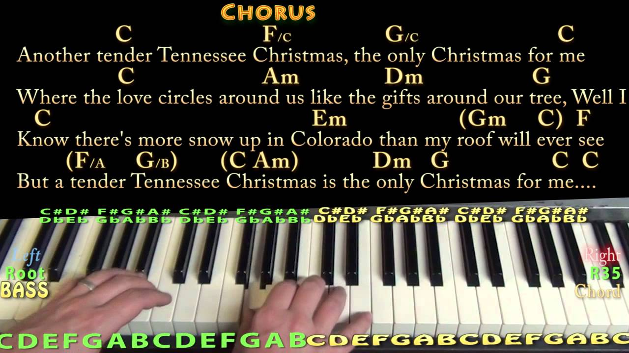 Tennessee Christmas - Piano Cover Lesson in C with Chords/Lyrics ...