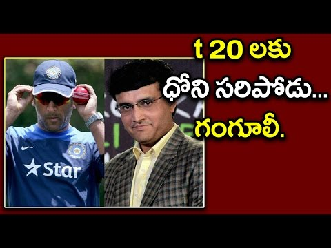IPL 2017 : Dhoni Not Fit For T20 Matches, Sourav Ganguly Comments On Ex-Captain - Oneindia Telugu