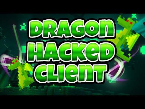 MCPE 1.2.13 DRAGON HACKED CLIENT (HUD, AIMBOT, REACH) ETC
