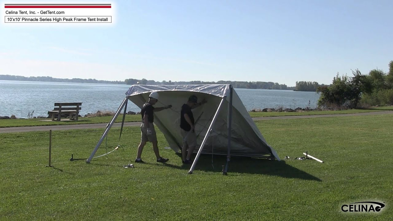 10u0027 x 10u0027 Pinnacle Series High Peak Frame Tent Installation Procedure. Celina Tent & 10u0027 x 10u0027 Pinnacle Series High Peak Frame Tent Installation ...