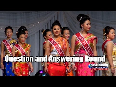 Suab Hmong E-News: Question Answering Round - 2013-14 Miss Hmong Minnesota Pageant Competition
