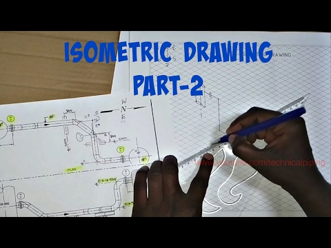Piping | Draw Isometric Drawing from Orthographic Drawing | PART-2