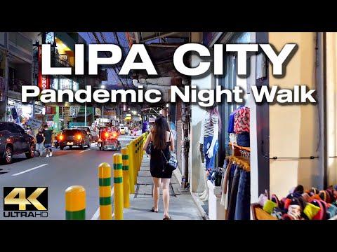 LIPA CITY Batangas Philippines - Night Walk [4K]