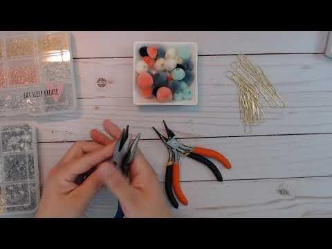 Pom Pom paper clips and Dangle Tutorial