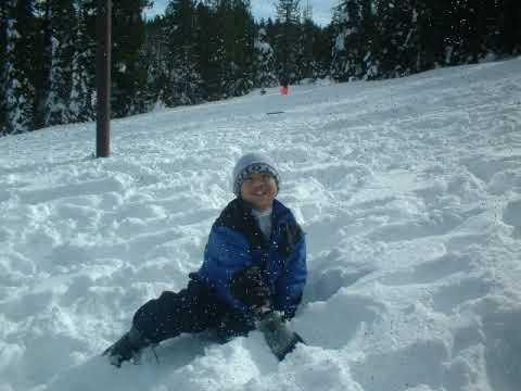 Snow play in Yuba Gap