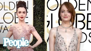 Golden Globes 2017 Fashion: Emma Stone, Lily Collins, Tracee Ellis Ross & More | People NOW | People