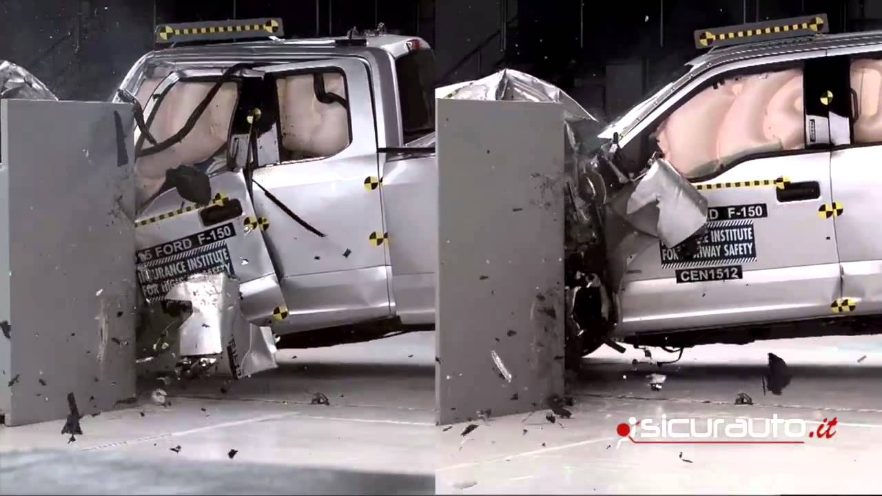 Extended Vs Crew Cab >> Ford F 150 Crew Cab Vs Extended Cab Crash Test Iihs Small Overlap