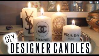DIY: Designer Candles ♡