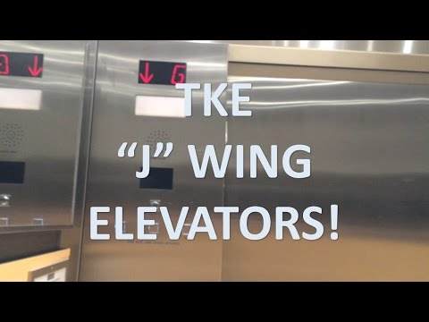 "ThyssenKrupp MRL Traction ""J"" Elevators @ Mississauga Hospital"