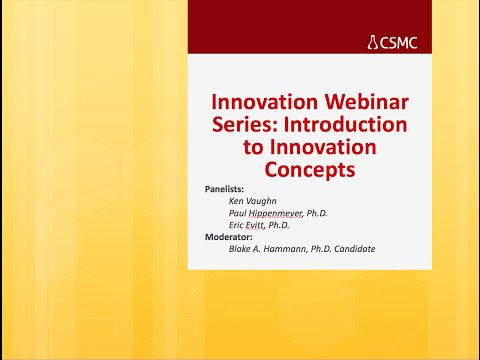 Webinar: Introduction to Innovation Concepts