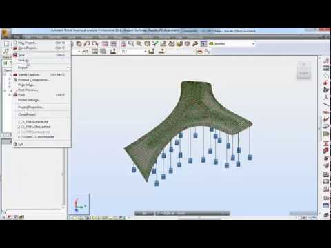 16- Robot Structural Analysis Professional - How to export meshing from RSA  to AutoCAD Dxf file