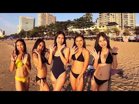 NYE beach trip with Lust on soi 6 ladies in Pattaya Thailand
