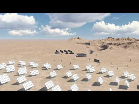 Concentrated Solar power (CSP), HD simulation of both Flat & Parabolic CSP mirrors