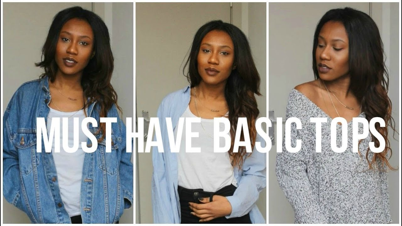 98286b099ae4d MUST HAVE BASIC TOPS - YouTube