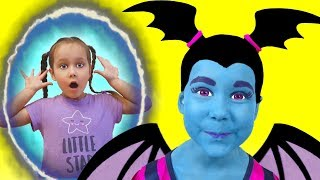 Junior Vampirina and Julia Pretend Play with Baby Doll and Toys