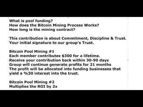 Bitcoin Mining Contract | TRUST | Funding Business
