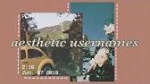 ☾ ↳ aesthetic korean usernames☽ ↲ - YouTube