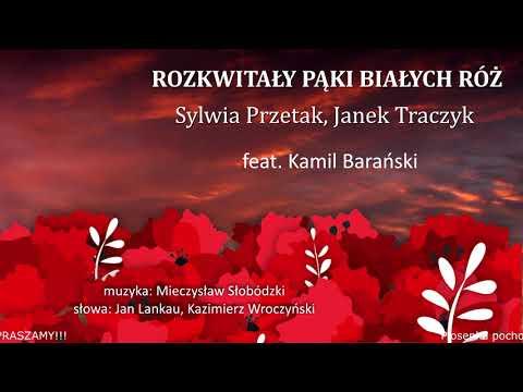 """inne – Rozkwitały pąki białych róż – Sylwia Przetak i Janek Traczyk. Album: """"Uwięziony ptak nie śpiewa""""; fortepian: Kamil Barański. 2020-2021"""