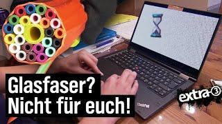 Realer Irrsinn: Kein Glasfaseranschluss in Hundsbach | extra 3 | NDR