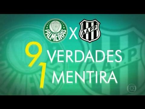 Globo Esporte - Nove verdades e uma mentira do duelo decisivo entre Palmeiras e Ponte Preta 20/04/17