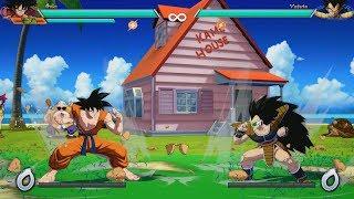 Dragon Ball FighterZ - Raditz vs Goku & Piccolo (Kame House Stage) Gameplay (MODS)