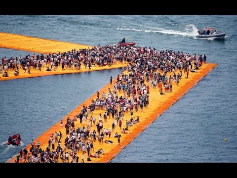 These floating piers let visitors walk on water