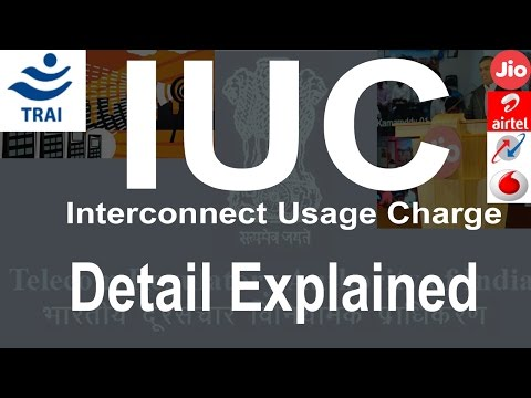 IUC interconnect usage charges TRAI