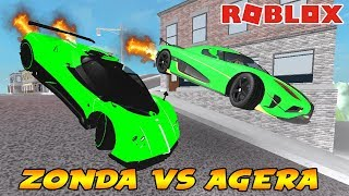 ZONDA VS AGERA KAPIŞMASI / Roblox Vehicle Simulator / Roblox Roleplay