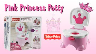 Pink Princess Potty Stepstool by Fisher-Price for Potty Training with Songs!
