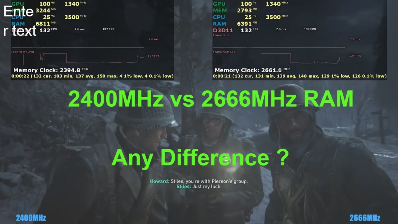 2400Mhz vs 2666Mhz RAM , Any difference in performance ? AMD Ryzen