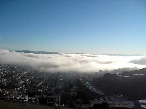 Fog Rolling In And Out Of San Francisco Bay Youtube
