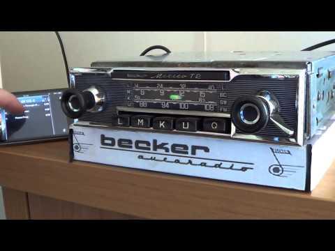 1970 Becker Mexico AM-FM Cassette Car Radio showing ope... | Doovi