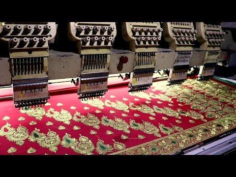 Banarasi Saree Making Process ।। Computer Embroidery Designs