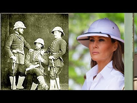 Melania Trump Caused Outrage By Wearing Colonial Pith Hat In Kenya