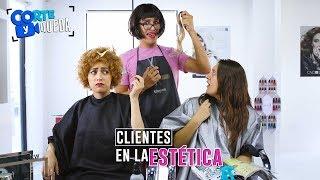 CLIENTES EN LA ESTÉTICA | CORTE Y QUEDA thumbnail