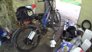самодельный электровелосипед на 2000ват после ремонта(собрал велосипед и починили акб., 2016-07-18T19:12:50.000Z)