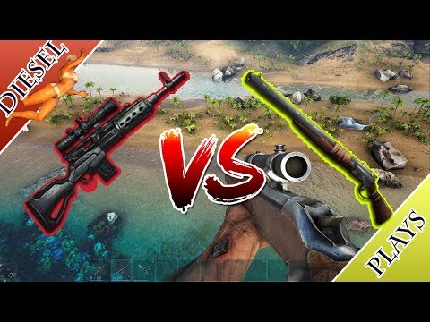 Art Of Ark   Longneck Rifle Vs Fabricated Sniper Rifle!