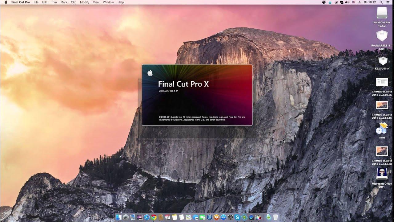 Final Cut Pro X Running OS X Yosemite - YouTube