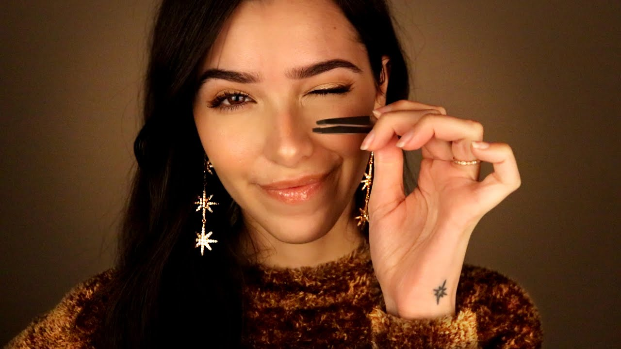 ASMR Doing Your Eyebrows: Closeup Attention