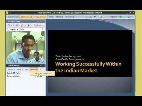 Office Live Meeting Demo 1 Join a meeting - YouTube
